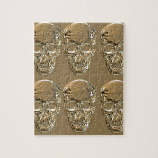 Skulls background gold jigsaw puzzle
