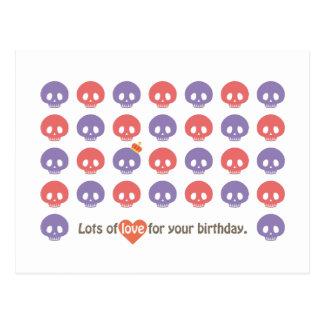 SKULL'S BIRTHDAY POSTCARD