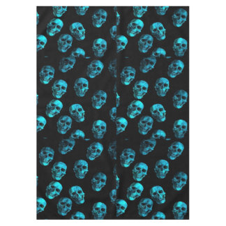 skulls blue 2 tablecloth