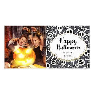 Skulls & Bones Happy Halloween Picture Photo Card