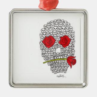 skulls christmas ornament