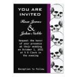 Skulls Ebony (Purple) Wedding Invitation