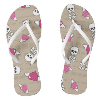Skulls Flip Flops