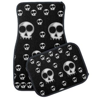 Skulls floor car mats