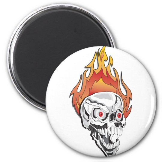 Skulls-for-Cafe-Press-1- 6 Cm Round Magnet