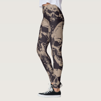 Skulls Halloween Pattern Leggings