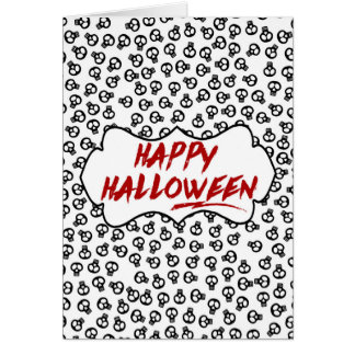 Skulls Happy Halloween Card