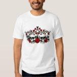 Skulls, Hearts And Roses Tee Shirts