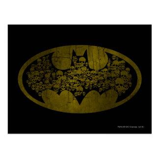 Skulls in Bat Symbol Post Cards