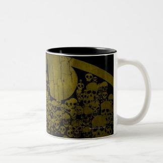Skulls in Bat Symbol Two-Tone Mug