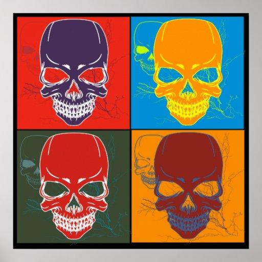 Skulls in Color Print