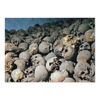 Skulls in Mount Sinai, Middle East 13 Cm X 18 Cm Invitation Card