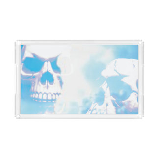 Skulls in the Clouds Acrylic Tray