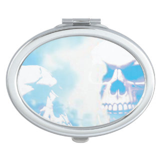 Skulls in the Clouds Compact Mirrors