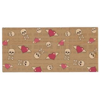 Skulls Wood USB 2.0 Flash Drive