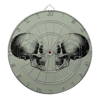 Skulls Metal Cage Gray Dartboard