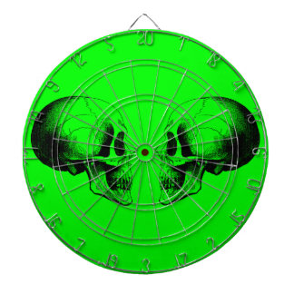 Skulls Metal Cage Green Dartboard