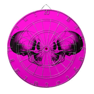 Skulls Metal Cage Pink Dartboard