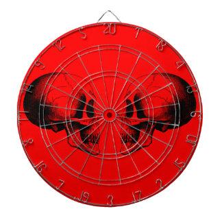 Skulls Metal Cage Red Dartboard