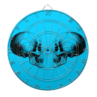 Skulls Metal Cage Turquoise Dartboard