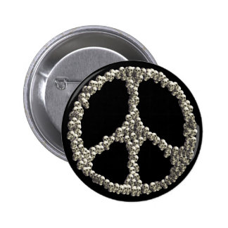 Skulls Of Peace 6 Cm Round Badge