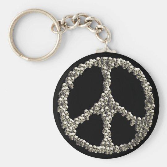Skulls Of Peace Basic Round Button Key Ring