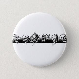 Skulls on a Vine. Circa 1901 Mexico. 6 Cm Round Badge