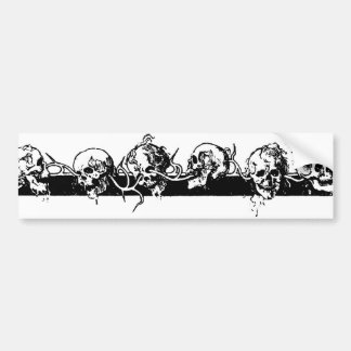 Skulls on a Vine. Circa 1901 Mexico. Bumper Sticker