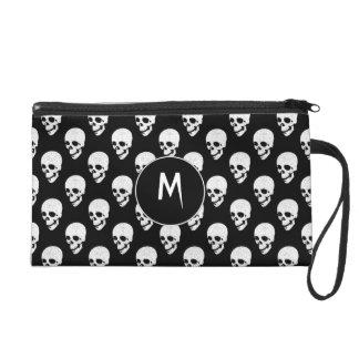 Skulls pattern wristlet purses