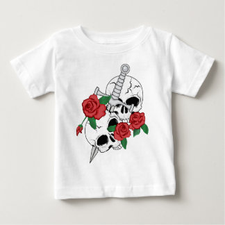 Skulls, Roses and Dagger Baby T-Shirt