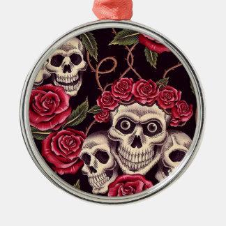 Skulls & Roses Christmas Ornament