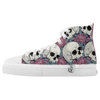 Skulls & Roses High Top Sneakers