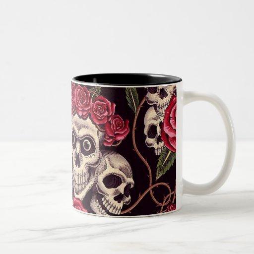Skulls & Roses Coffee Mugs