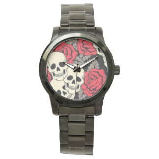 Skulls & Roses Over sized Watch