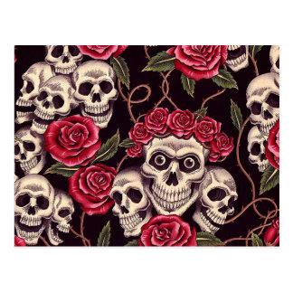 Skulls & Roses Postcard