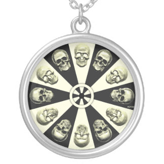 Skulls Round Pendant Necklace