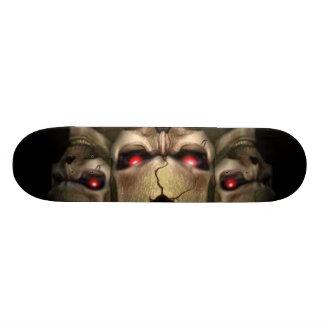 skulls skateboard deck