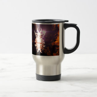 Skulls surrounded by fire and flames mugs