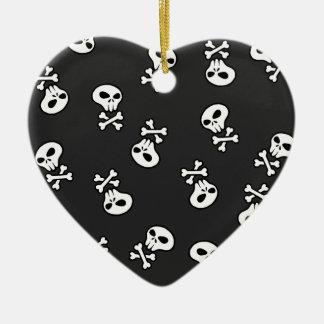 Skulls Tile Christmas Ornament