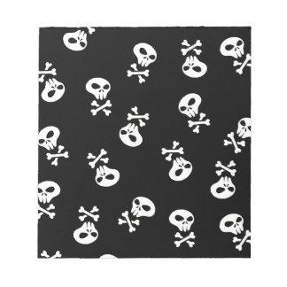 skulls tile notepad