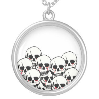 Skulls to silver necklace by Asuka Design