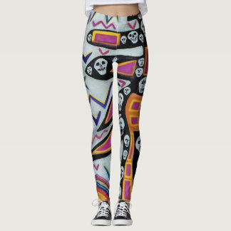 Skulls up you leg! leggings
