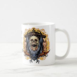 Skulls, Vampires and Bats customizable by Al Rio. Basic White Mug