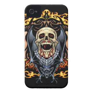 Skulls, Vampires and Bats Gothic Design by Al Rio Case-Mate iPhone 4 Case