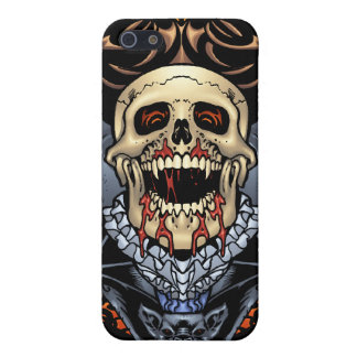 Skulls, Vampires and Bats Gothic Design by Al Rio Cover For iPhone 5/5S