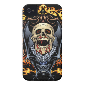 Skulls, Vampires and Bats Gothic Design by Al Rio iPhone 4 Covers