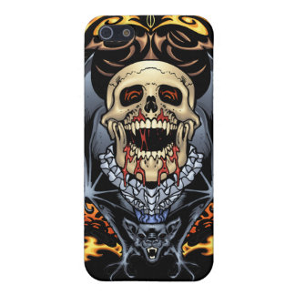 Skulls, Vampires and Bats Gothic Design by Al Rio iPhone 5/5S Cover