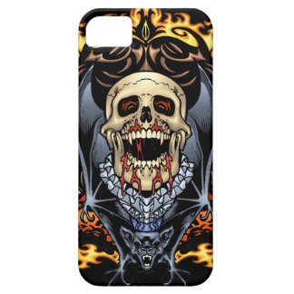 Skulls, Vampires and Bats Gothic Design by Al Rio iPhone 5 Cover