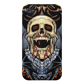 Skulls Vampires and Bats Gothic Design by Al Rio iPhone 4 Cover