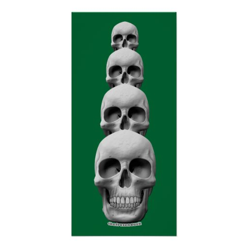 Skulls - Vertical Poster